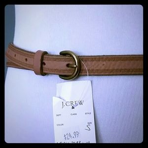 J. Crew Light Brown Leather Belt,  Size Small, NWT
